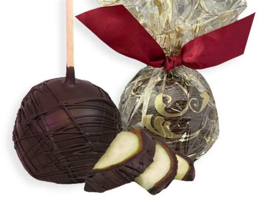 DARK Chocolate Covered Caramel Apples