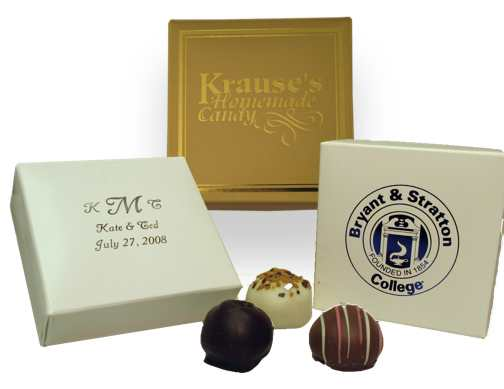 Favor Box with Four Truffles