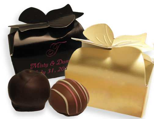 Bow Box with Two Truffles