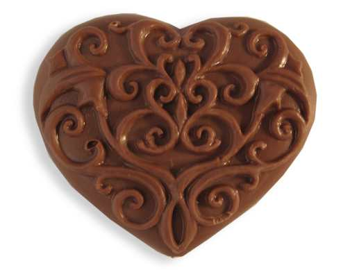 Chocolate Swirl Heart