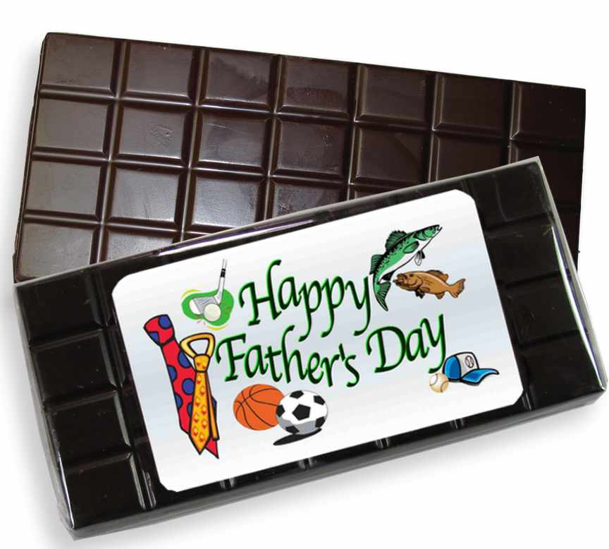 Happy Father's Day Dark Chocolate Candy Bar