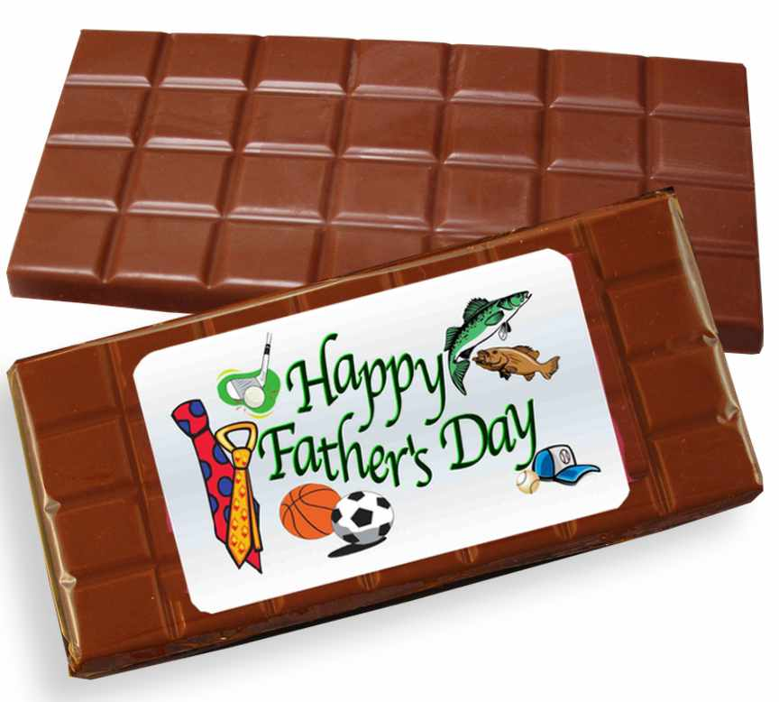 Happy Father's Day Milk Chocolate Candy Bar