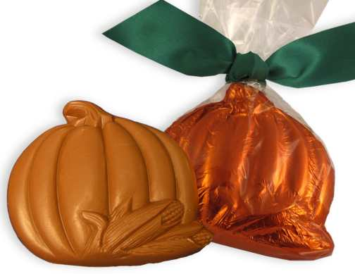 Large Milk Chocolate Foil Pumpkin