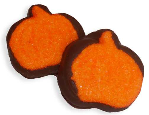 Dark Chocolate Marshmallow Pumpkins