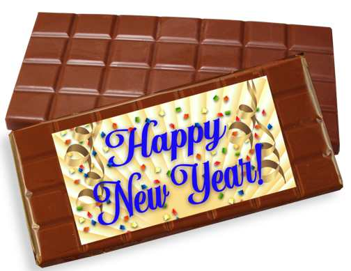 Happy New Year Milk Chocolate Candy Bar