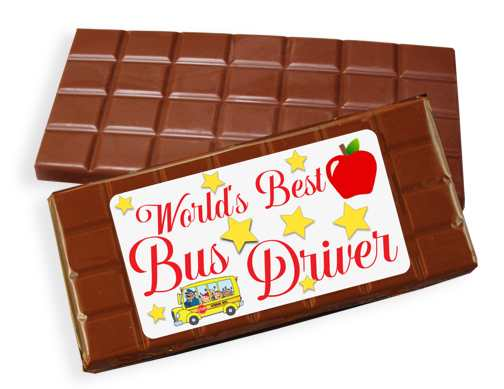 Bus Driver Milk Chocolate Candy Bar