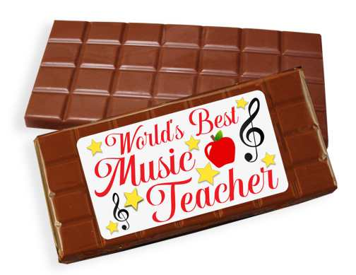 Music Teacher Milk Chocolate Candy Bar