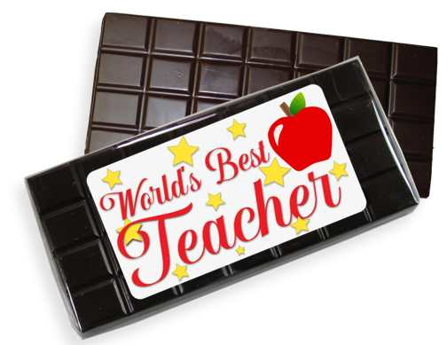 Teacher Dark Chocolate Candy Bar