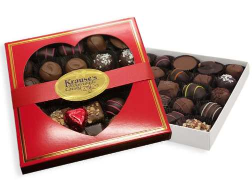 1 lb Heart Box of Chocolates  (Square)