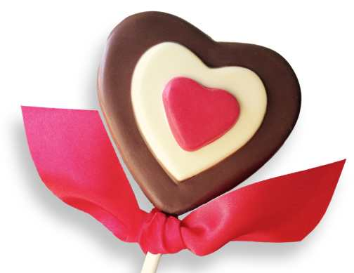 Milk Chocolate Triple Heart Pop