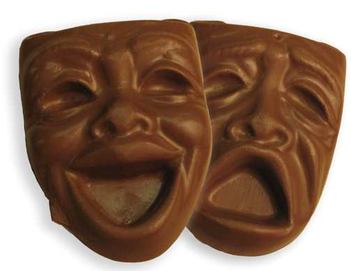 Chocolate Theater Mask