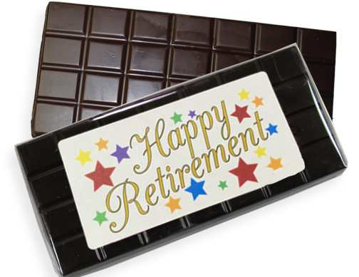Happy Retirement Dark Chocolate Candy Bar