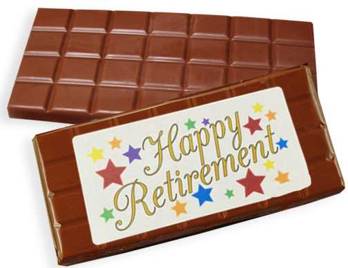 Happy Retirement Milk Chocolate Candy Bar