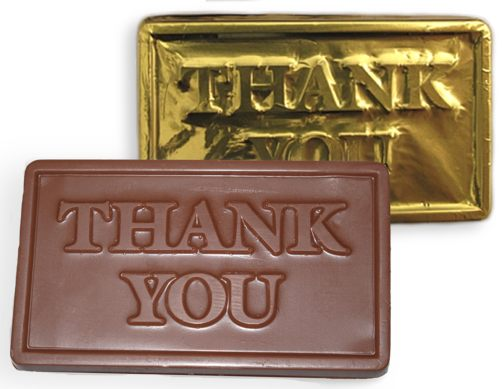 Chocolate Thank You Card (Small)