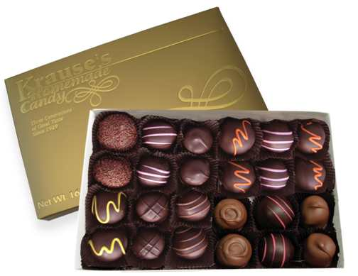 1 lb Assorted Creams DARK CHOCOLATE