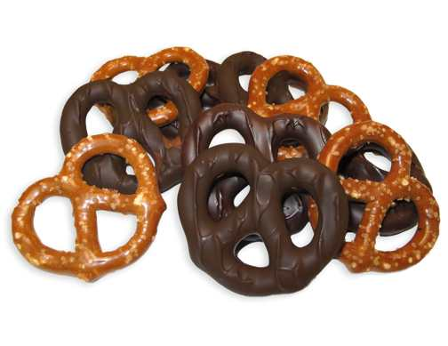 Dark Chocolate Covered Bavarian Pretzels [4 oz. Bag]