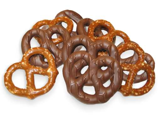Milk Chocolate Covered Bavarian Pretzels [4 oz. bag]