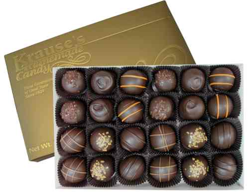 1 lb Assorted Truffles DARK CHOCOLATE
