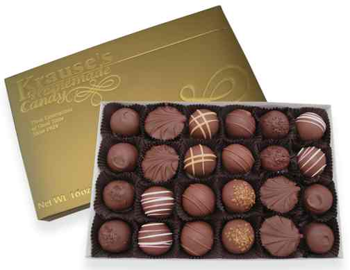 1 lb Assorted Truffles MILK CHOCOLATE