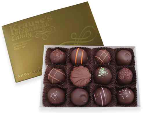 1/2 lb Assorted Truffles DARK CHOCOLATE