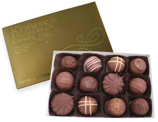 1/2 lb Assorted Truffles MILK CHOCOLATE
