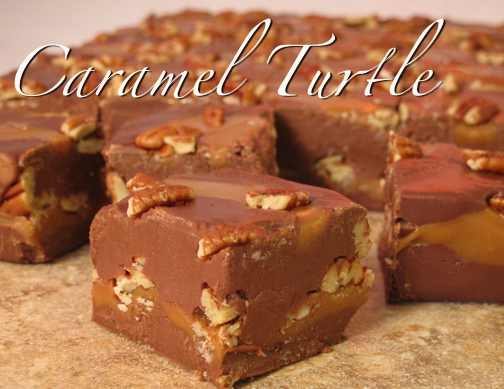 Chocolate Pecan Turtle Fudge [1 lb.]