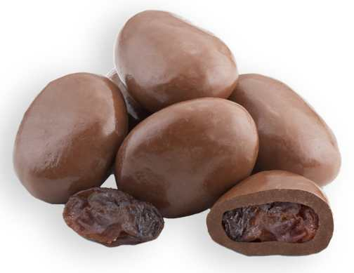Milk Chocolate Raisins - 1/2 LB