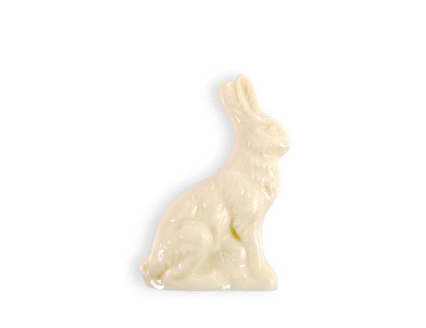 A 4 inch Solid WHITE SATIN Bunny wrapped in cellophane and ready to tuck into the perfect Easter basket.  Net Wt: 2.5 oz