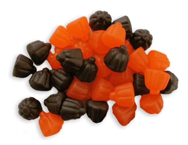 Chewy and delicious juju pumpkins. Orange and Grape flavored.