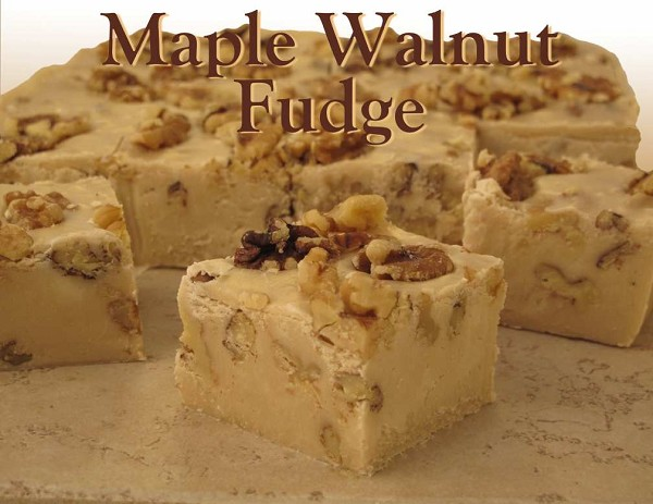 Sweet and delicious maple fudge stuffed with walnuts.  Net Wt: 1 lb.