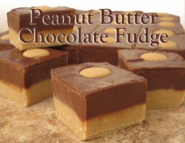 Delicious peanut butter fudge layered with chocolate fudge!