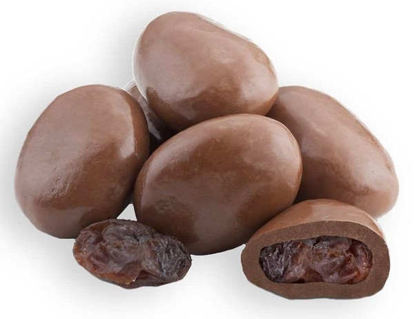 The old favorite, chocolate covered Raisins with lots of creamy Milk Chocolate. Net Wt. 1/2 lb